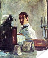 Плакат Автопортрет перед зеркалом (Self-portrait front of the mirror)