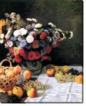 Картина Натюрморт с цветами и фруктами (Still-Life with Flowers and Fruits)