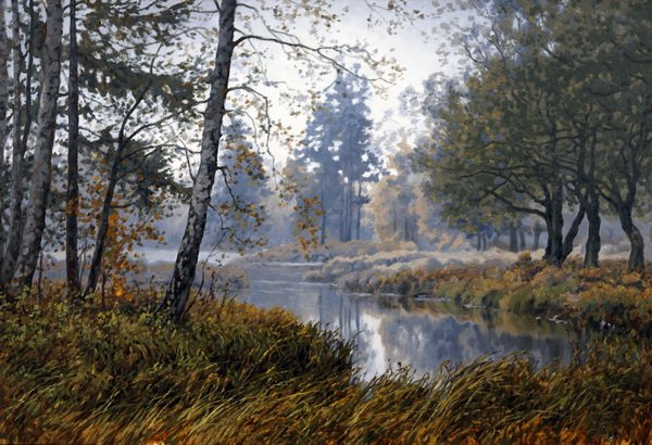 Река в лесу (The river in the woods)