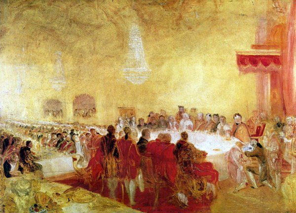 Георг 4 в Эдинбурге (George IV at the Provost's Banquet in the Parliament House, Edinburgh)