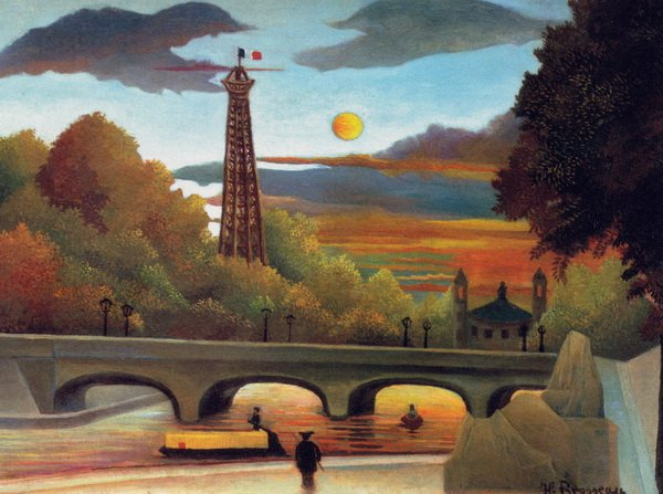 Сена и Эйфелева башня на закате (Seine and Eiffel-tower in the sunset)