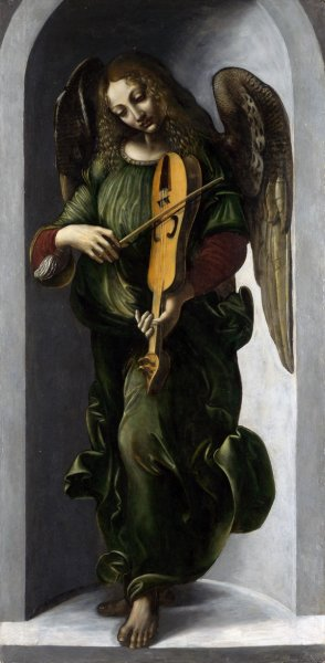 Ангел в зеленом (An Angel in Green with a Vielle)