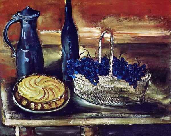 Натюрморт с виноградом, тортом и кувшинами ( Still Life with Cake Grapes And Jugs)