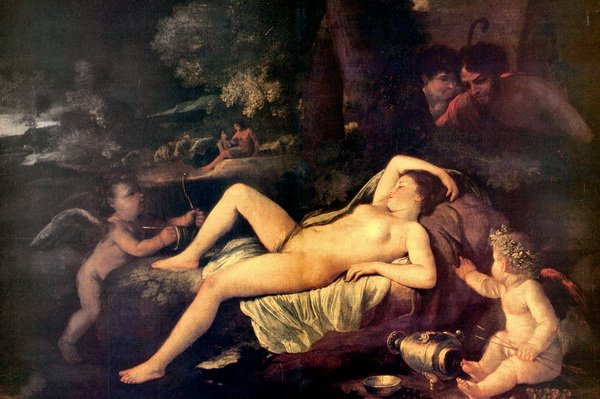 Спящая Венера и Амур (Sleeping Venus and Cupid)