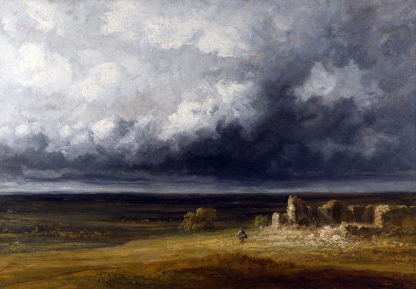Грозовой пейзаж с руинами на равнине (Stormy Landscape with Ruins on a Plain)