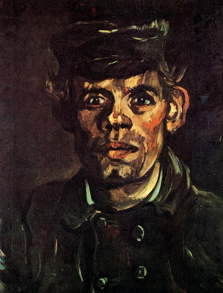 Молодой мужчина в кепке (Head of a Young Peasant in a Peaked Cap)