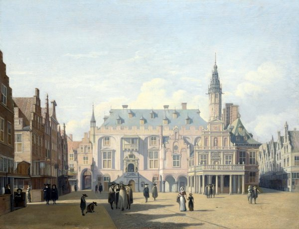 Рынок и ратуша в Харлеме (The Market Place and Town Hall, Haarlem)