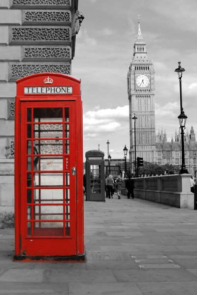 Телефонные будки в Лондоне (Telephone booth in London)