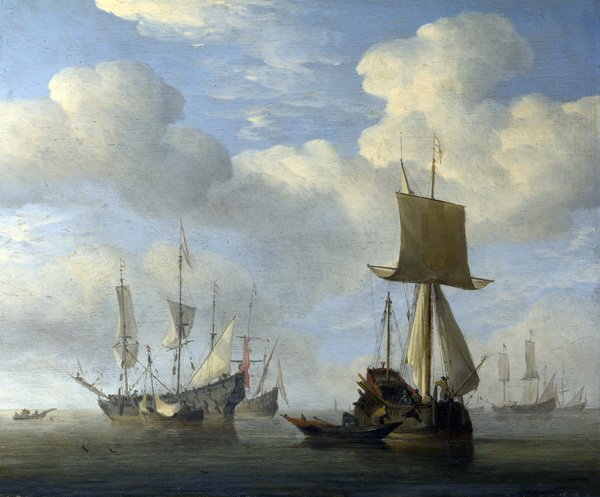 Английское и голландское судна в штиль (An English Vessel and Dutch Ships Becalmed)
