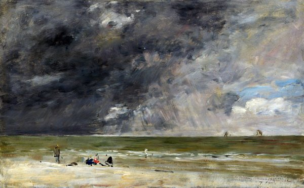 Пляж в Трувиль 2 (The beach at Trouville)