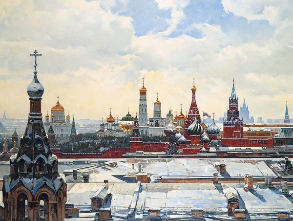 Вид на Кремль со Старой площади (View of the Kremlin from the Old Town Square)