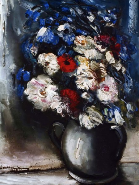 Букет в белой вазе 9Bouquet in white vase)