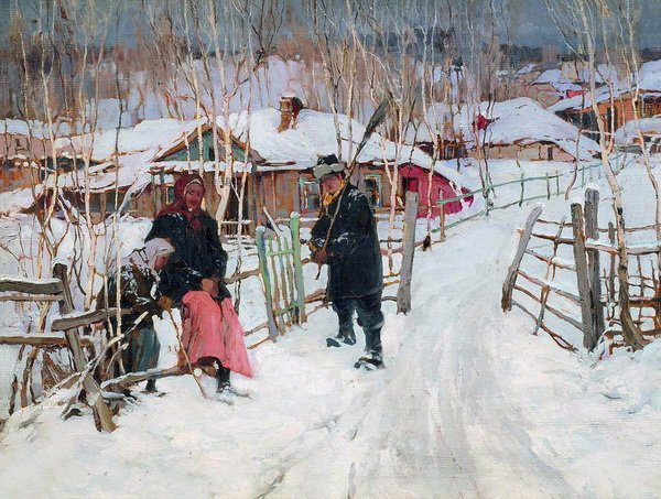 Зима. Околица (Winter. outskirts of a village)