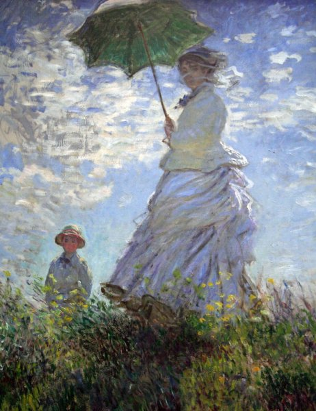 Мадам Моне и ее сын (Woman with a Parasol)