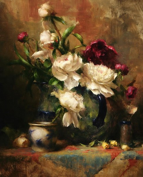 Пионы в вазах (Peonies in Vases)