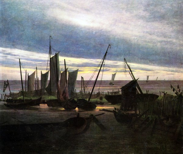 Корабли в гавани после заката (Ships in the harbor in the evening (after sunset)