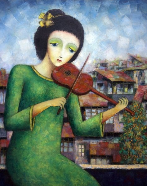 Девушка играющая на скрипке (The girl playing the violin)