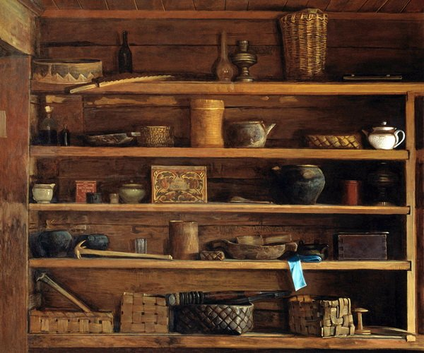 Деревенские полки (Rustic shelves)
