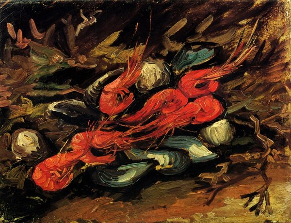 Натюрморт с мидиями и креветками (Still Life with Mussels and Shrimps)