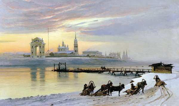 Переправа через Ангару в Иркутске (Crossing the Angara River in Irkutsk)