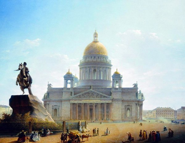 Исаакиевский собор и памятник Петру (St. Isaac's Cathedral and the Monument to Peter)