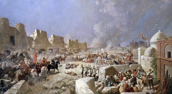 Вступление русских войск в Самарканд 8 июня 1868 года (The entry of Russian troops in Samarkand, June 8, 1868)