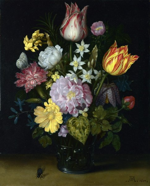 Цветы в вазе (Flowers in a Glass Vase)