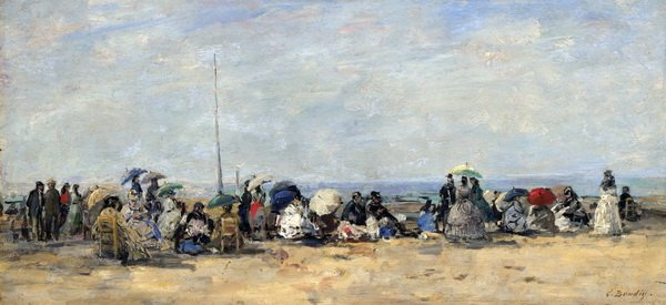 Пляж в Трувиль (The beach at Trouville)