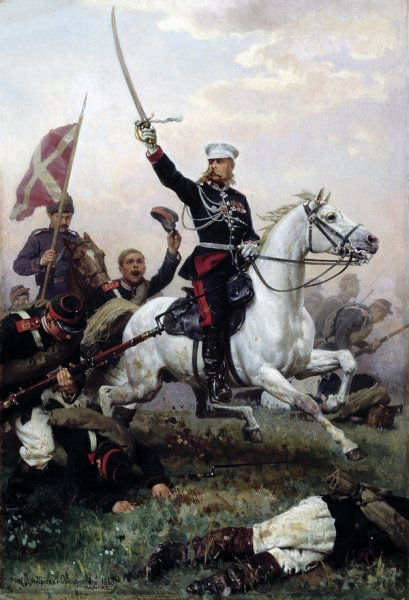 Генерал Н.Д.Скобелев на коне (General N.D.Skobelev on horseback)