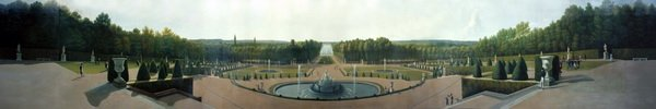 Панорамный вид на дворец и сады Версаля (Panoramic View of the Palace and Gardens of Versailles)