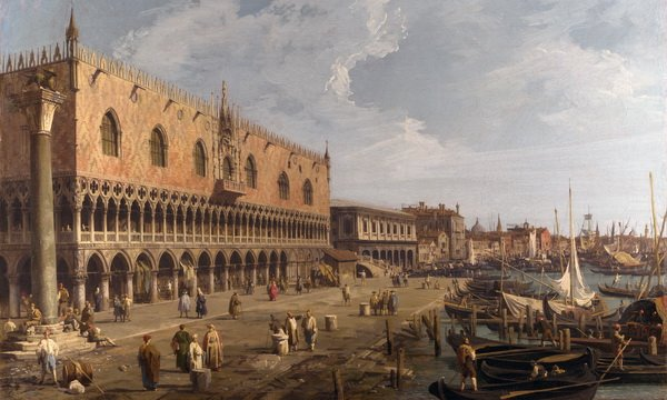 Дворец Дожей (The Doge's Palace and the Riva degli Schiavoni)