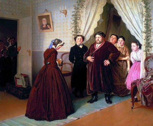 Приезд гувернантки в купеческий дом (Arrival of the governess in a merchant's house)