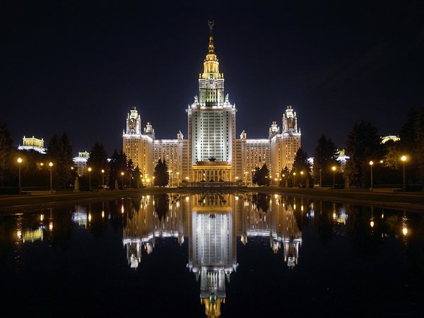 Москва ночью (Moscow at night)