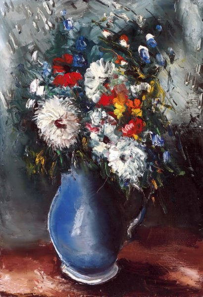 Букет в синей вазе (Bouquet in blue vase)