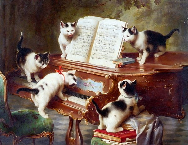 Кошки на пианино (Cats on a Piano)