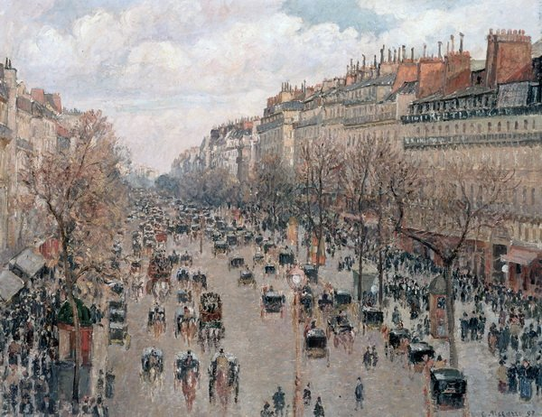 Монмартр (Boulevard Monmartre in Paris)