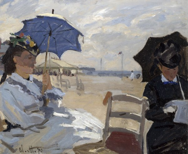 Пляж в Трувилле (Beach at Trouville)