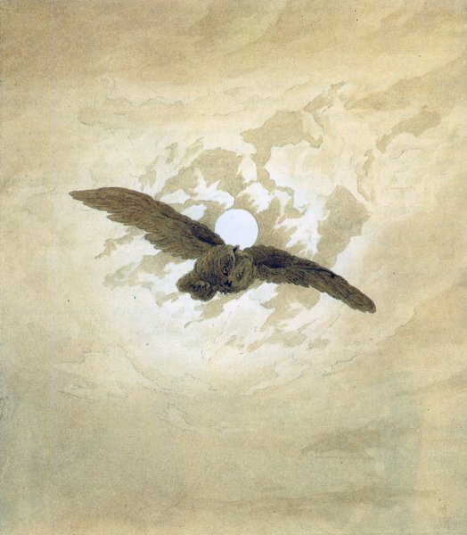 Сова и луна (Owls and the moon)