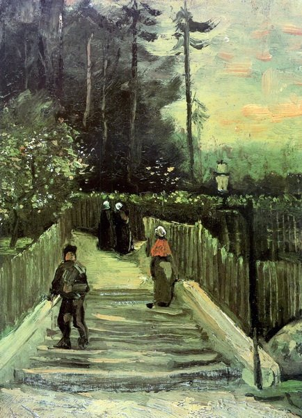 Склон на Монмартре (Sloping Path in Montmartre)