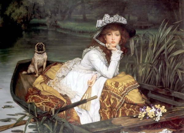 Барышня в лодке (Young Lady in a Boat)