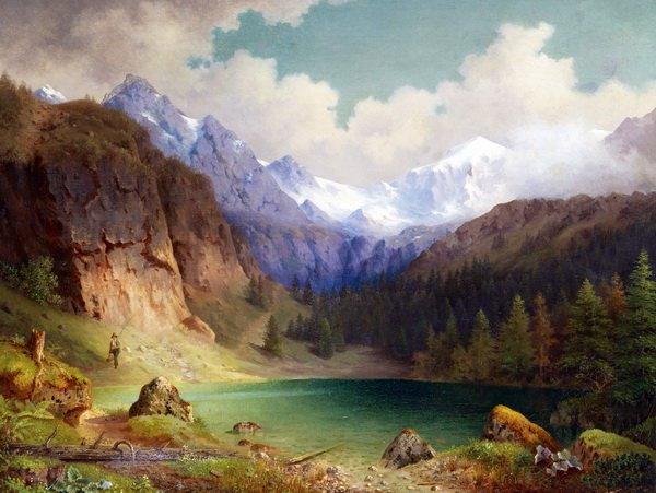 Озеро в горах (Lake in the mountains)