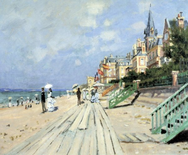 Пляж в Трувиле (Beach at Trouville)
