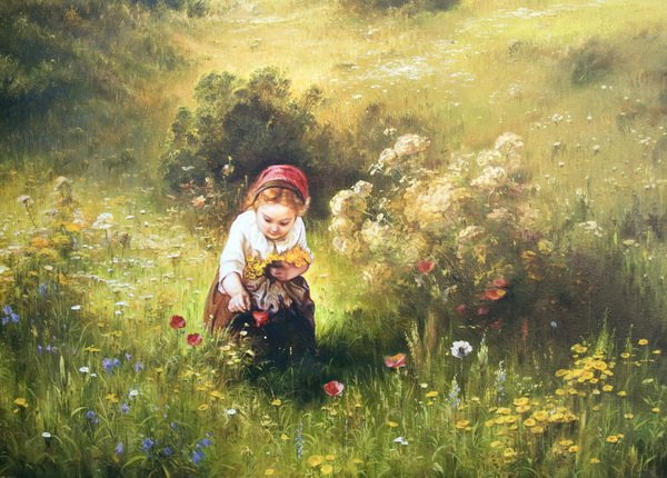 Девочка в поле (A girl in a field)