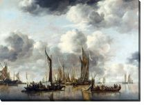 Картина Голландские яхты (A Shipping Scene with a Dutch Yacht firing a Salute)