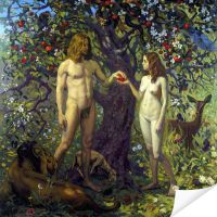 Плакат Адам и Ева. Грехопадение (Adam and Eve. fall of man)