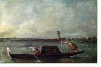 Постер Гандола в лагуне (A Gondola on the Lagoon near Mestre)