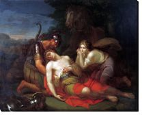 Картина Эрминия и Вафрин находят раненого Танкреда (Erminia and the wounded Tancred Vafrin)