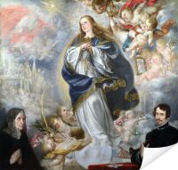 Плакат Непорочное зачатие (The Immaculate Conception with Two Donors)