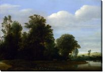 Картина Пейзаж с рекой возле леса (A Landscape with a River by a Wood)