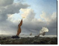 Картина Голландские суда в сильный ветер ( A Dutch Ship and Other Small Vessels in a Strong Breeze)